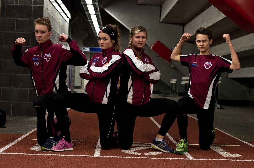 Martin Bülow-Kristiansen,  Linnea Greiff,  Synneva Sørensen og  Sigurd Fluge Petterson sendes til Sandes til uoffisielt NM i mangekamp.