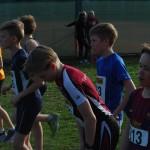 G11-12 løp sammen, her er Håvard (03), Eskil (04) og Tinus (03) skimtes i bakgrunnen blå t-skjorte.